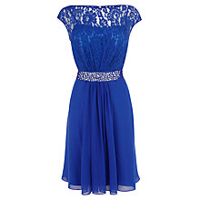 Buy Coast Lori Lee Lace Mini Dress, Cobalt Blue Online at johnlewis.com