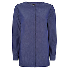Buy Jaeger Cotton Long Sleeve Tunic Top, Chambray Online at johnlewis.com