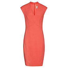 Buy Reiss Lindon Panel Dress, Guava Online at johnlewis.com