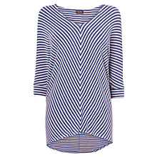 Buy Phase Eight Mildred Chevron Top, Foxglove/Navy Online at johnlewis.com