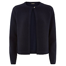 Buy Jaeger Ottoman Wool Jacket, Peacoat Online at johnlewis.com