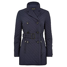 Buy Jaeger Chevron Quilted Trench, Midnight Online at johnlewis.com