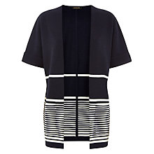 Buy Jaeger Striped Wool Cardigan, Navy/White Online at johnlewis.com