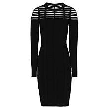 Buy Reiss Felicity Techique Dress, Black Online at johnlewis.com