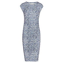 Buy Reiss Jo Abstract Rain Print Dress, Blue Online at johnlewis.com