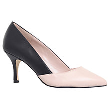 Buy Carvela Kasia Leather Court Shoes, Black Online at johnlewis.com