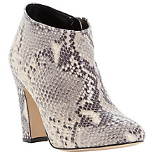 Buy Dune Olyvia Block Heeled Ankle Boots, Natural Online at johnlewis.com