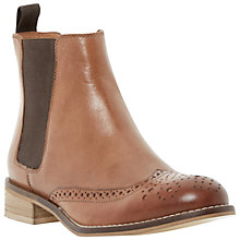 Buy Dune Quentin Punch Hole Leather Chelsea Boots Online at johnlewis.com