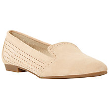 Buy Dune Glorie Suede Loafers, Nude Online at johnlewis.com