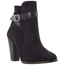 Buy Dune Quill Buckle Detail Suede Ankle Boots Online at johnlewis.com