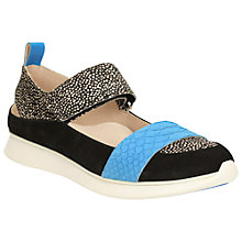 Buy Clarks Junelle Polly Suede Cut Out Trainers, Blue/Multi Online at johnlewis.com
