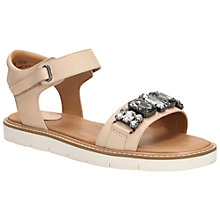 Buy Clarks Lydie Joelle Leather Flatform Bejewelled Sandals Online at johnlewis.com