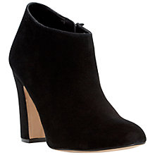 Buy Dune Olyvia Suede Shoe Boots, Black Online at johnlewis.com