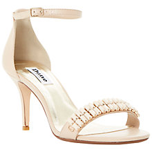 Buy Dune Matilde Two Part Embellished Heeled Leather Sandals, Nude Online at johnlewis.com