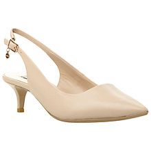 Buy Dune Cathryne Sling Back Court, Nude Online at johnlewis.com