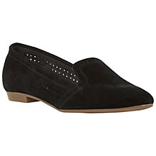 Buy Dune Glorie Suede Loafers, Black Online at johnlewis.com