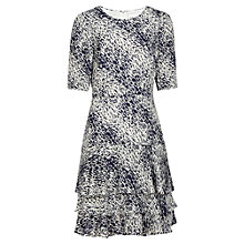 Buy Reiss Foxtail Layered Hem Dress, Night Navy Online at johnlewis.com