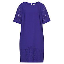 Buy Reiss Smiler Laser Cut Shift Dress, Ocean Blue Online at johnlewis.com