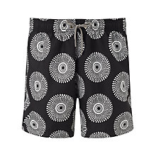 Buy Okun Ali ILE Swim Shorts, Black/White Online at johnlewis.com