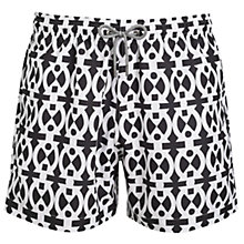 Buy Okun Ali Adinkra Swim Shorts, Black/White Online at johnlewis.com