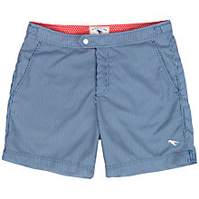 Buy Ted Baker Bufpop Pinstripe Swim Shorts, Bright Blue Online at johnlewis.com