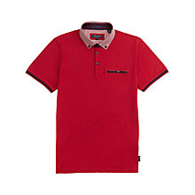 Buy Ted Baker Westow Polo Shirt, Red Online at johnlewis.com