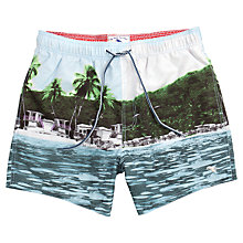 Buy Ted Baker Lakely Tropical Print Swim Shorts, Multi Online at johnlewis.com