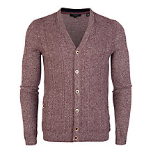 Buy Ted Baker Exford Cardigan, Red Online at johnlewis.com