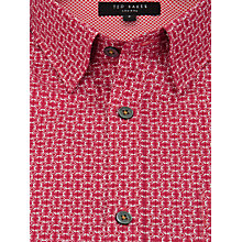 Buy Ted Baker Haansel Geo Print Shirt, Pink Online at johnlewis.com