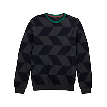 Buy Ted Baker Yooneek Geo Print Crew Neck Jumper Online at johnlewis.com