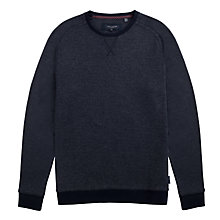 Buy Ted Baker Crosbie Herringbone Sweatshirt, Navy Online at johnlewis.com