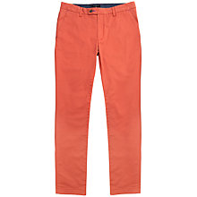 Buy Ted Baker Sorcor Slim Fit Chinos, Burnt Orange Online at johnlewis.com
