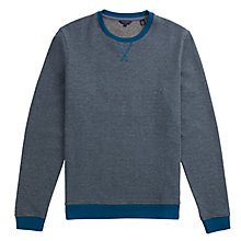 Buy Ted Baker Shumue Woven Sweatshirt, Teal Online at johnlewis.com