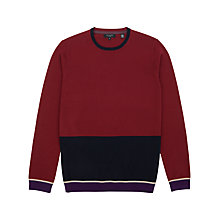 Buy Ted Baker Stelham Merino Wool Block Colour Jumper Online at johnlewis.com