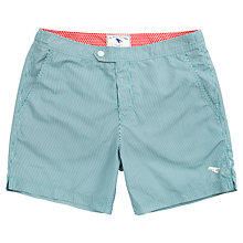 Buy Ted Baker Bufpop Pinstripe Swim Shorts, Teal Online at johnlewis.com
