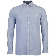 Buy Ted Baker Bananza Striped Shirt, Blue Online at johnlewis.com