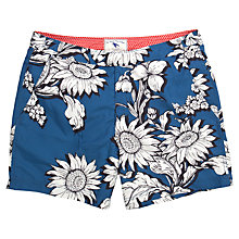 Buy Ted Baker Jeffpa Graphic Print Swim Shorts, Blue Online at johnlewis.com