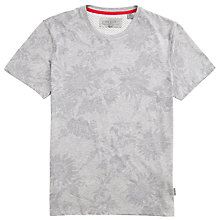 Buy Ted Baker Leerid Floral T-Shirt, Grey Online at johnlewis.com