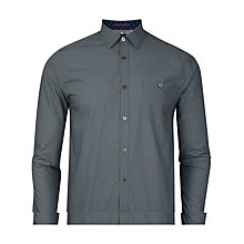 Buy Ted Baker Dotbiz Polka Dot Shirt, Navy Online at johnlewis.com