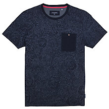 Buy Ted Baker Paistop Paisley Print T-Shirt, Navy Online at johnlewis.com