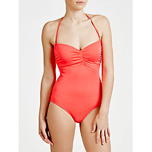 Buy Phax Colour Mix Bandeau Swimsuit, Red Online at johnlewis.com