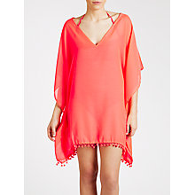 Buy Phax Pom Pom Kaftan, Orange, One Size Online at johnlewis.com