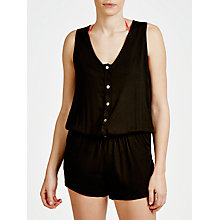 Buy Phax Button Playsuit, Black Online at johnlewis.com