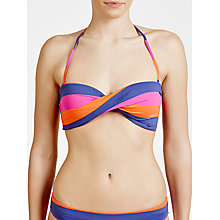 Buy Phax Hustle Stripe Twist Bikini Top, Multi Online at johnlewis.com