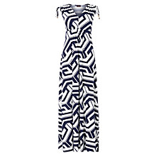 Buy Phase Eight Grace Graphic Maxi Dress, Navy/Ivory Online at johnlewis.com