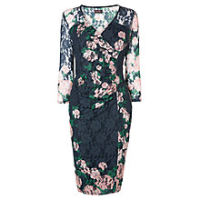 Buy Phase Eight Palmer Print Lace Dress, Navy Online at johnlewis.com