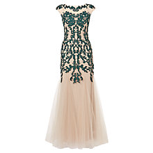Buy Phase Eight Collection 8 Oralie Embroidered Dress, Nude/Forest Online at johnlewis.com
