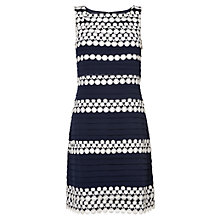Buy Phase Eight Simone Layered Dress, Navy/Cream Online at johnlewis.com
