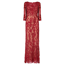Buy Phase Eight Collection 8 Constansie Tapework Dress, Ruby/Nude Online at johnlewis.com