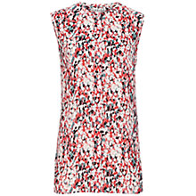 Buy Reiss Verity Sleeveless Shirt, Papaya Online at johnlewis.com
